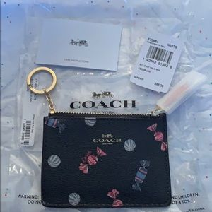 Coach Mini Skinny Id Case Scattered Candy Print.
